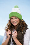 MB 7540 myrtle beach Knitted Cap with Pompon